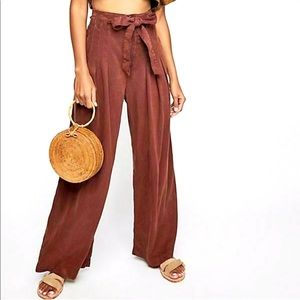 Dwell on Dreams Pleated High Waisted Pants
